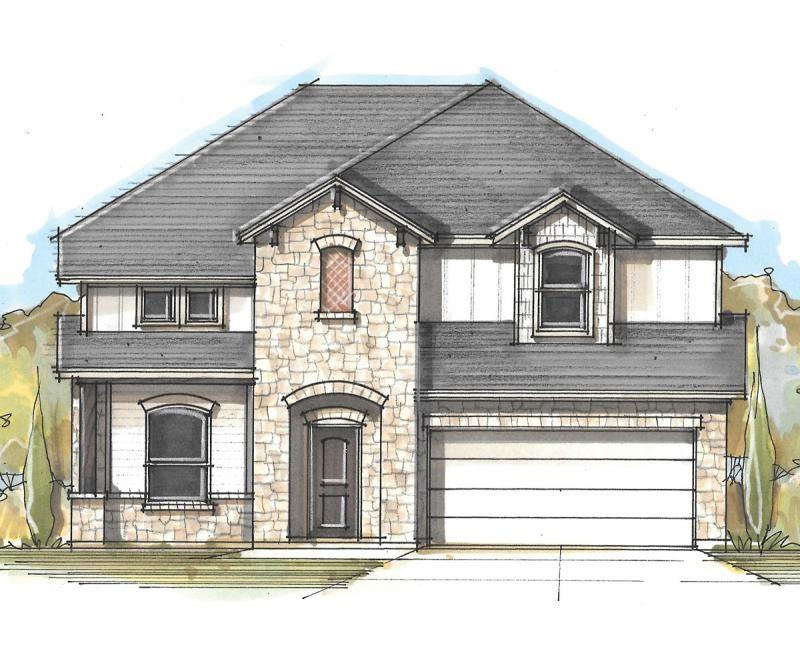 This floor plan is perfect for the buyer interested in architectural details, from vaulted ceilings in the livingroom to the dramatic opening from the expansive upstairs game room to below. Coveted features include the oversized pantry and storage, walk-in utility room, outdoor living space, first-floor master suite, walk-in closets in every bedroom, and loft space in the secondary bedroom. Milestone Community Builders.