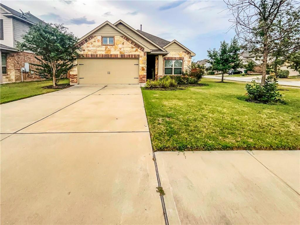 Built in 2015, this Pflugerville one-story home offers granite countertops, and a two-car garage.