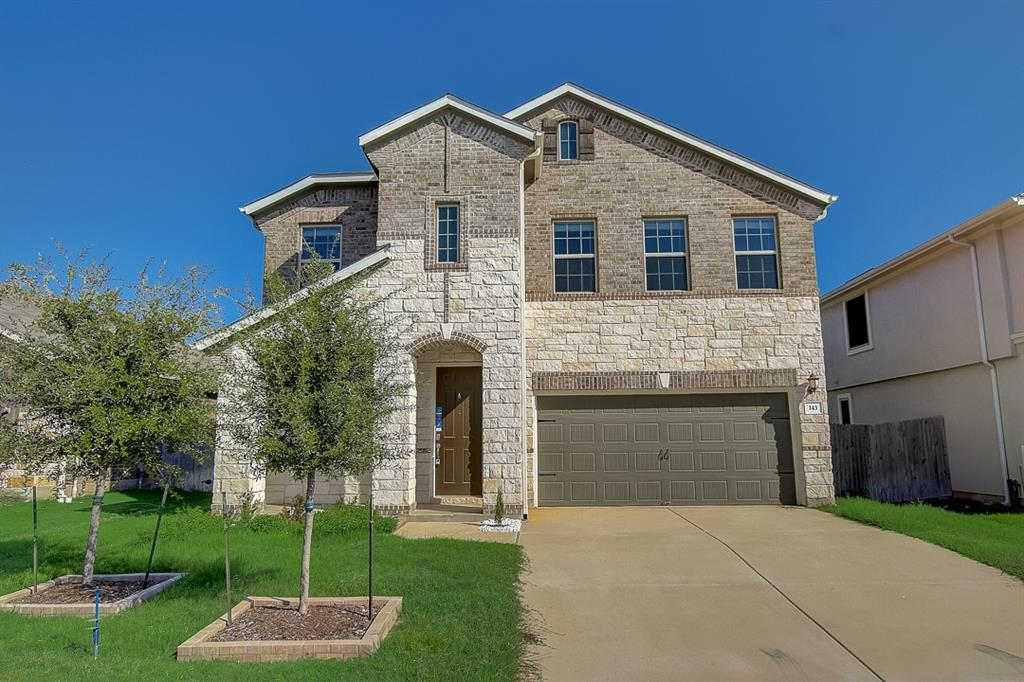 Built in 2018, this Georgetown two-story home offers a patio, granite countertops, and a two-car garage.  This home has been virtually staged to illustrate its potential.