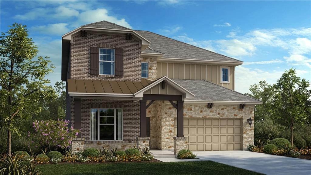 """The Parmer floor plan is a two story home with approximately 3,138 sf. of living space. 4 bedrooms (primary on main floor), 3.5 bathrooms, home office, game room, media room, large covered patio, and a 3 bay garage. This home-site is approximately 7,200 sf. and faces NW. The spacious kitchen features built in stainless steel appliances, quartz counter tops, 42"""" upper cabinets, a large island and more. The flooring is hard surface throughout the main areas, tile in the bathrooms, and carpet in the bedrooms. The quality construction includes; 10' ceilings and 8' doors throughout the first floor, 3 sides masonry, Zip System sheathing, and so much more."""