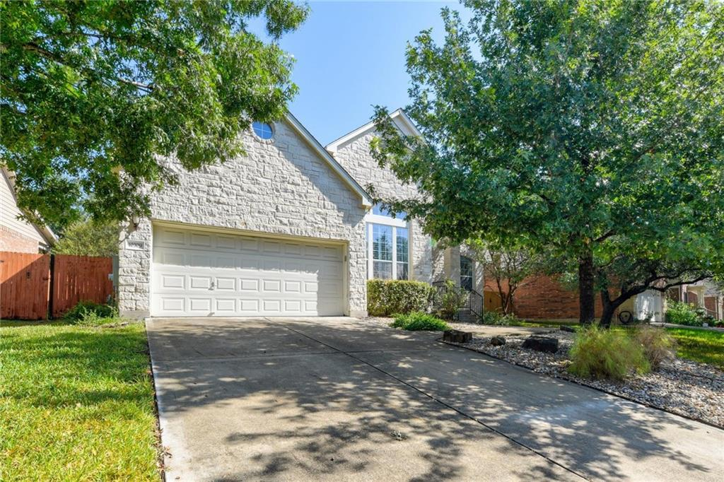 """Deadline for offers is Monday, 10/4 at 2pm. Beautiful 2 story home in popular Canyon Creek. This home is zoned for Canyon Creek Elementary School, Grisham Middle School, and Westwood High School in exemplary Round Rock ISD. This spacious floor plan features a stone façade, 4 bedrooms including the primary suite down, 3 1/2 baths plus dedicated office and formal dining room and 2 game rooms. This home is ready for a new owner to move in with upgrades including hardwood floors, plantation shutters, and customized walk-in closet in the primary bedroom.  Enjoy a beautifully landscaped front yard on your way to the charming front porch. Once inside, you enter the inviting foyer with double height ceiling and large windows. The wall of windows and airy atmosphere invite you into the living room where you can relax and enjoy the fireplace.  Openness from the living room to the kitchen makes this home an entertaining haven. The kitchen features granite countertops and tile backsplash, built-in gas cooktop with exterior ventilation, 42"""" cabinets and downlights. In addition to the breakfast area, there is plenty of countertop and cabinet space with extra seating at the center island to host gatherings of any size.  Retreat to the spacious primary suite with ceiling fan, crown molding and bay window. Custom built-in shelving and drawers with hardware make the most of the closet space. The en suite primary bathroom with a walk-in shower and garden tub made complete with tile surround and plantation shutters.  The stairs leads to the second floor with hardwood flooring, 2 game rooms, 3 secondary bedrooms and 2 full bathrooms! Hang out with friends and family on the back patio.  Located just 30 minutes from downtown Austin and less than 5 minutes from the nearest shopping and dining destinations. Close to the future Apple Campus."""