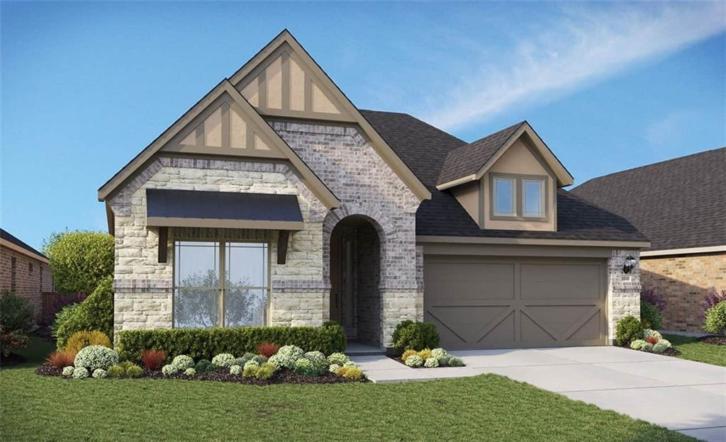 Due to supply chain issues, some options and selections may be substituted or revised. Must verify all options and details with builder representative. Oleander plan with features that include: Built in Stainless Steel Appliances   Flex Room   Pocket Office   Buffet with Glass Doors. Available March.