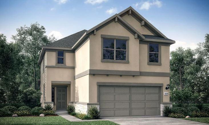 """REPRESENTATIVE PHOTOS ADDED! Ready September/October 2022! The appealing Cantata plan is a two-story home that opens to a thoughtful design connecting the kitchen, dining and great room with views of the covered porch and backyard oasis. Enjoy a spacious kitchen island, Stainless Steel appliances and walk-in pantry. On the second floor, discover a generous owner's suite with sizable walk-in closet, linen storage, dual vanities, enclosed water closet and large shower. Rounding out the upstairs are three secondary bedrooms, a full bath with dual sinks and linen closet and laundry room with shelving. Also enjoy a bonus room, perfect for game nights. A 2-car garage provides convenient access into the kitchen. Structural options added at 159 Breccia Trail include: upgraded flooring, extended covered back patio, pre plumb for a water softener, 42"""" cabinets in kitchen, quartz countertops, upgraded front door."""