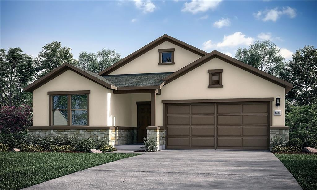The Blanco built by Taylor Morrison proves that good things come in small packages!  At 1,699 square feet, this one story home has everything you need and then some.  With stunning architectural design providing show-stopping curb appeal, this home is sure to please.  The adorable entry leads to a cozy foyer with two bedrooms and a full bath nearby. Further down the front entry hall, the heart of this home opens into an impressive island kitchen, great room and dining area.  The kitchen is beautifully designed with a walk-in pantry and ample countertop space.  In its own side of the home, the owner's suite is the perfect oasis featuring dual sinks, walk-in shower and walk-in closet with tons of storage space.  Adding more to love, the laundry room in the Blanco has plenty of space to keep you organized!  Don't miss out on your chance to own this gorgeous home in Stonewall Ranch!  Structural options added to 204 Caisson Trail include; covered patio and pre-plumb for water softener. REPRESENTATIVE PHOTOS ADDED!