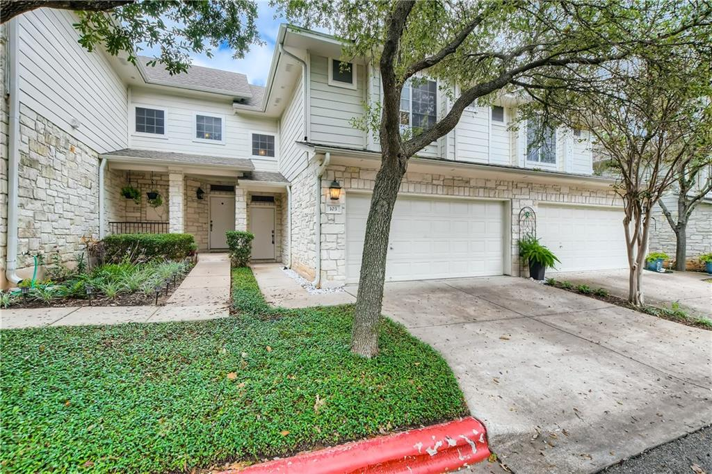 Don't miss out on this fabulous 3 bedroom, 2.5 bathroom two-story townhome in the gated Springs Garden Homes community! Upon entry, prepare to be greeted by the grand high ceiling entryway and stairway leading you to the spacious upstairs. Relax and unwind in the comfort of the primary bedroom, which includes standout features like a tray ceiling, a walk-in closet, and an en suite bathroom with a combination shower and bathtub. Host guests or cook meals in the downstairs eat-in kitchen , boasting stainless steel appliances, expansive peninsula, and granite countertops. Step outside to the fenced-in backyard retreat, the perfect place to enjoy a cup of coffee in the morning. Other notable features include an attached 2-car garage and access to the community pool. Conveniently located near US-183, The Arboretum, The Domain, and the best Austin has to offer in dining and shopping!
