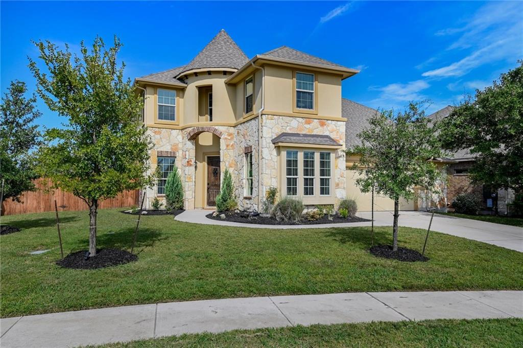 Move-in Ready in Prestigious Santa Rita Ranch North. Don't have time to wait for a new build, this 2-story Grand Haven built home has it all.  Spacious master down with walk-in shower and rainwater head, along with additional bedroom and full bath, and study with french doors.  Open floor plan with 2-story great room wired for surround sound, lots of natural light, bright kitchen with center island and bar, stainless steel appliances, granite counters and under cabinet lighting.  Upstairs you will find 2 additional bedrooms and full bath with dual sinks, an oversized game room, and a state of the art media room wired for Dolby Atmos; theater seats, projector, and screen convey. Additional information includes a fresh air option for the AC system, networking to central box in every room, and a 2.5 car garage with epoxy flooring and wired for speakers. Large, private, flat back yard ready for your new pool and playscape complete with dog run and jacuzzi slab. Located on a corner lot with no neighbors behind.  Here at Santa Rita Ranch, you get much more than a home—you get a life of fun, liveliness, stimulation and adventure – it's what we like to call having fun along the way. Join us in our one-of-a-kind master-planned community to discover what it really means to feast your eyes on natural beauty, push your boundaries, blaze your own trail and live each day like a walk in the park. Community amenities include Two-Resort Style Pools, Dual Two-Story Waterslides, Kids Splash Pool & Park, Wellness Barn Fitness Facility, State-of-the-Art The Green Play Park, Extensive Parks & Nature Trails, Catch & Release Lake, Ranch House Amenity Center,& a Full-Time Director of Fun!