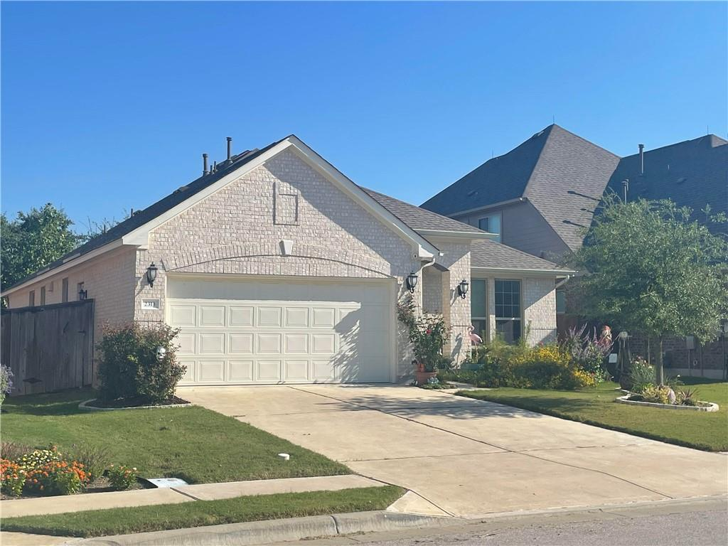 """Adorable and affordable 3/2 + office in coveted Crystal Falls! This classic and estately home has tons of beautiful upgrades including hardwood floors (no carpet) throughout, granite counters/25+ alderwood cabinets and tile backspash, center island, kitchen cabinet pullouts, brushed nickel fixtures, recessed lighting, Cantera fireplace, bay window in master,  separate garden tub/shower, double vanity, WIC 2"""" blinds, covered patio plus enlarged patio, wrought iron fence, hot tub, limestone edging around flowerbeds/landscaping in this beautiful yard.  Close to park, pool, golf course, metro rail, toll roads, Whole Foods, Costco, Chuys, Torchy's and tons of restaurants.  Lots of most of the light switches are program to work with Alexa …there is ecobee thermostat and ring camera doorbell and  backyard ring cameras with ring with other cameras as well in front that offer security"""