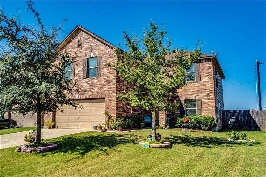Beautiful home located in the small town community of Hutto in an up and coming area. Features include an open floor plan, a large additional living space on the second floor, office/4th bedroom on the main floor as well as a powder room, new hardwood floors recently installed, and great sized private back yard. Must see!