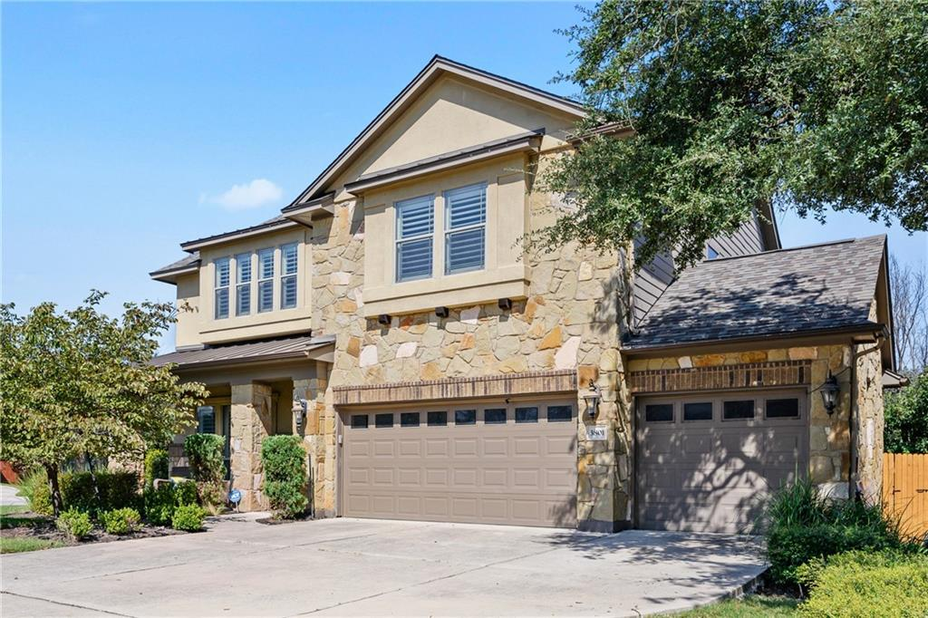 Spectacular home in the heart of the Ranch at Brushy Creek.  Amazing location, corner lot, across the street from park and community pool.  This house is ready to move in.  Custom shutters. Upgraded large tile, easy to maintain.  Kitchen open to family room and formal dining. Huge upgraded granite kitchen island, extended pantry, farmhouse sink.  Built in bar area in family room, wood flooring. Separate office with french doors and built in bookcases. Flex room downstairs currently used as home gym. Spacious main bedroom downstairs, main bath with separate shower and large walk in closet. Upstairs 3 large bedrooms with large closet areas, game room, media room and 2 full baths.  Acclaimed LISD schools.