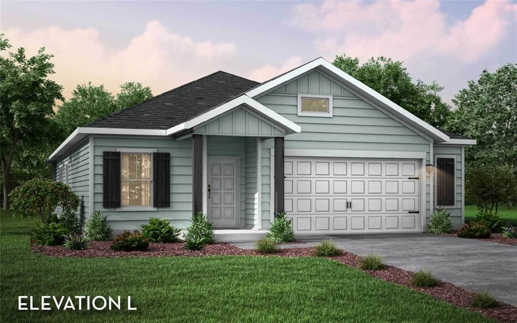 """Pedernales plan by CastleRock Communities features open plan concept with 4 bedrooms/2 baths and 2.5 car garage.  Kitchen open to great room and casual dining space with quartz counters/stainless gas range/large pantry/tile backsplash! Private owner's retreat at back of home with en suite bath, large walk in closet, separate shower and soak tub! Features include covered patio, vinyl plank flooring White 42"""" cabinets/Under cabinet lights/Blinds/Garage Door Opener/Water Softener/Wood & glass front door/Wood vinyl floor/Tankless Hot Water Heater/Full sod & sprinklers!! Estimated completion December 30!"""
