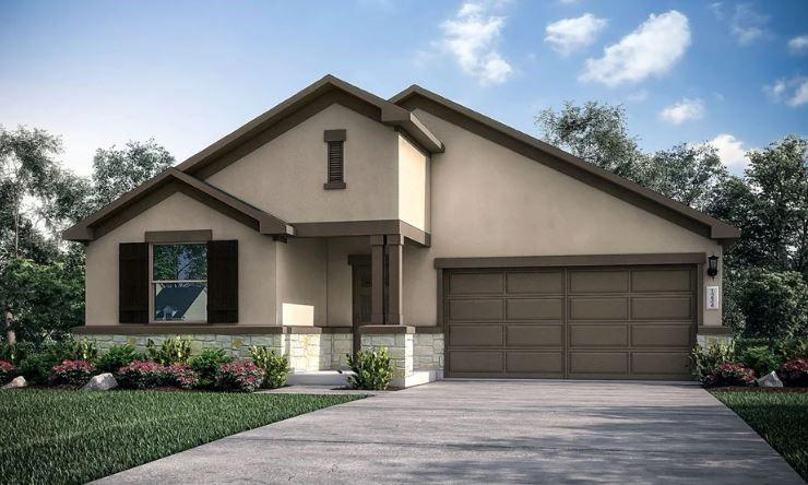 REPRESENTATIVE PHOTOS ADDED! Ready July 2022! Built by Taylor Morrison ~ The Angelina plan has all the ingredients you need to live the good life and then some! Be impressed the moment you step in from the front porch. A welcoming foyer with brings you into the heart of the home. The open and airy spacious great room connects the gorgeous kitchen with dining area the perfect for space to enjoy special dinners with family or guests. The open kitchen shows off a center island with plenty of countertop workspace and storage pantry. Enjoy outdoor entertaining on the extended covered back patio! Next to the great room is your private retreat – the roomy owner's suite with luxurious bath includes dual vanities, an oversized shower, and large walk-in closet. Two secondary bedrooms are located at the front of the home and share a full bath. Structural options added to 132 Andesite Trail include extended covered back patio and pre-plumb for water softener.