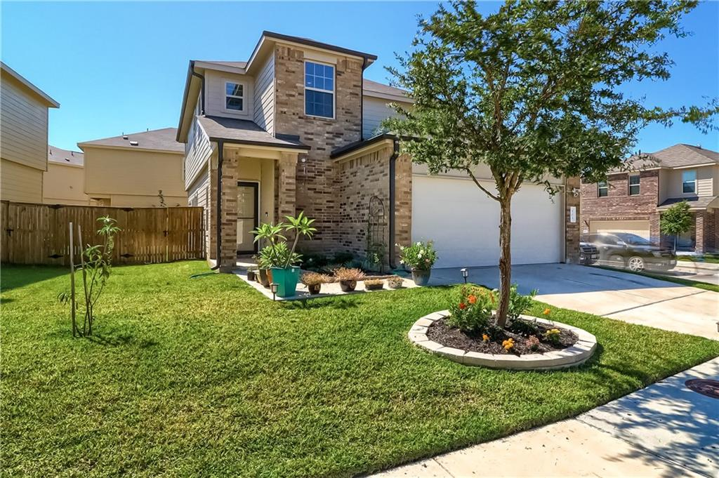 Great Lennar built home on corner lot with great street appeal! This home features 4 bedrooms, 3.5 baths, extra large game room/Flex room with a 2 car garage, Upgrade black stainless steel appliances,Granite counters, 5 ceiling fans,wood faux blinds, neutral paint that flows with large floor plan. front and back sprinkler system, with Security cameras included. Master has soaking tub with stand alone shower.This home features special touches and offers room for growing family!