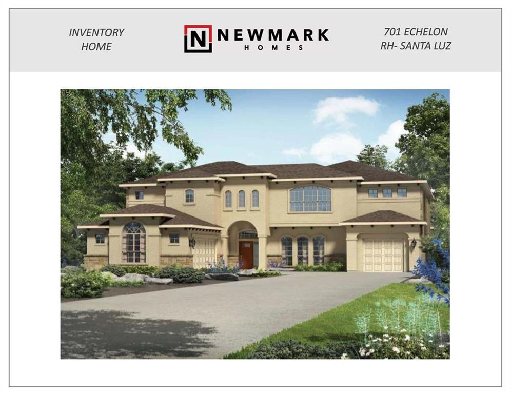 Newmark's Stunning Waltz floorplan on a private home site; last section of Rough Hollow!!  Beautiful design elements everywhere; 2nd floor balcony; extra deep homesite w/long driveway approach.