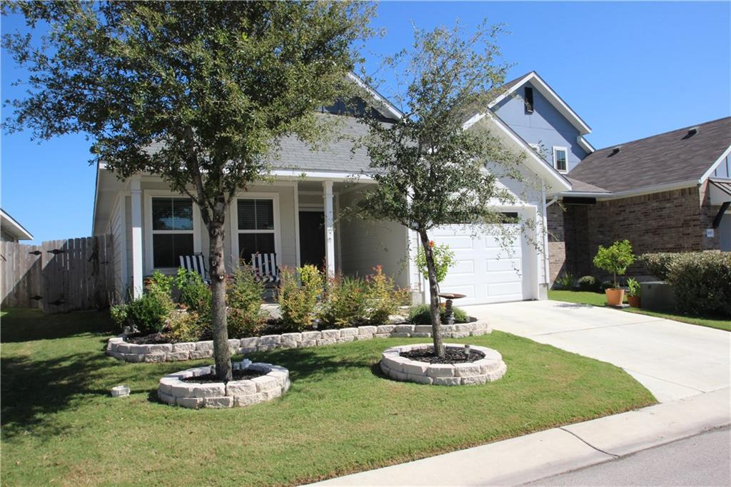 Gorgeous landscaping and front porch welcome you to this stand alone ranch home. The moment you walk in you are welcomed by a brightly lit hallway. To the left are 2 bedrooms with sizable closets and a full bath at the front of the home. Continue to an open concept kitchen with newer appliances including a gas stove, fridge, dishwasher and plenty of storage in the pantry, dining room and living room are perfect for gatherings. Master suite has tall ceilings with a double vanity, shower and walk in closet. Walk out to the fully fenced backyard. Neighborhood has 2 pools, playground, basketball courts, soccer field and walking trail. Call for your personal showing today! Seller is licensed Realtor