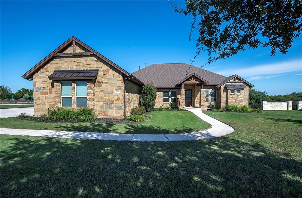 """This home is ready for new owners!! Well-appointed one level home in Liberty Hill's Rio Ancho Addition on 1.1-acres! Upon entering, you are greeted with a spacious Living Room that is OPEN to the Dining and Kitchen areas! A great floor plan for entertaining family and friends. Beautiful Kitchen features a breakfast bar and breakfast room, tiled backsplash detail, Stainless Steel appliances including microwave, refrigerator, two built in ovens one being convection and a pantry closet for additional storage space! Breakfast overlooks the back patio with beautiful natural light. Multiple Dining spaces in this home! Gorgeous Primary Bedroom Suite is large and features lovely natural light, soaking tub, double vanity + HUGE walk-in closet space! Featuring a split bedroom plan, the three secondary bedrooms have replaced carpet 10/2021with closet storage. Tons of windows offer beautiful natural light throughout! Back covered patio conveniently located off the dining area offers a great outdoor living space. Located in the highly accredited Liberty Hill ISD School system. AMAZING location with incredibly convenient access to schools, shopping and all the local restaurants that Liberty Hill has to offer plus """"You're Living in the Country!"""