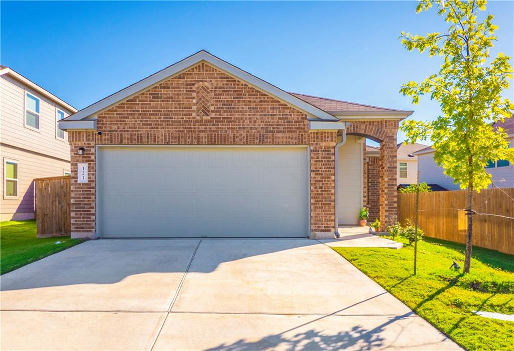 This like new, 2019 built home features a covered back patio, solar panels, gutters and a home security system. The wood-look waterproof vinyl floors in main areas are easy maintenance. Open floor plan with spacious kitchen, plenty of counter space and storage. A covered patio overlooks the nice size back yard.