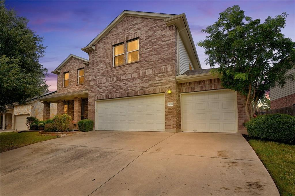 Pride of ownership shines through in this beautiful Falcon Pointe home. Feel at home in the spacious 2-story floor plan that includes 4 bedrooms, 2.5 bathrooms, 2 living areas, 2 dining areas, a dedicated office, AND a media room. You can't find a better location for a home; directly across the street from the community pond, trails, dog park, disc golf course and playground; walking/biking distance from all 3 schools, the community pool, playground and sports courts and just minutes from 130, Costco, At Home, Best Buy and more. No more stressing about having a quiet spot to hop on conference calls and virtual meetings with a dedicated office at the front of the home. The kitchen was designed with entertaining in mind with plenty of space to move about, a large center island with a breakfast bar and tons of storage for cooking essentials. The high ceilings and a wall of windows in the living room allow natural light to brighten every inch of space. If you are looking for a stylish and comfortable owner's suite, you've found it in the private, main floor bedroom. The ensuite bathroom is the perfect place to get ready for your day in with a dual vanity, medicine cabinet mirrors, soaking tub, separate shower with rainfall showerhead and a large walk-in closet. Head upstairs to an entertainer's dream space that includes a large game room, media room and 3 spacious guest bedrooms. The large backyard will be the center of many lively get-togethers or nights dining and lounging under a sky full of stars with an extended patio, mature trees and a privacy fence. We expect this property to sell quickly, so schedule your showing before it's too late!