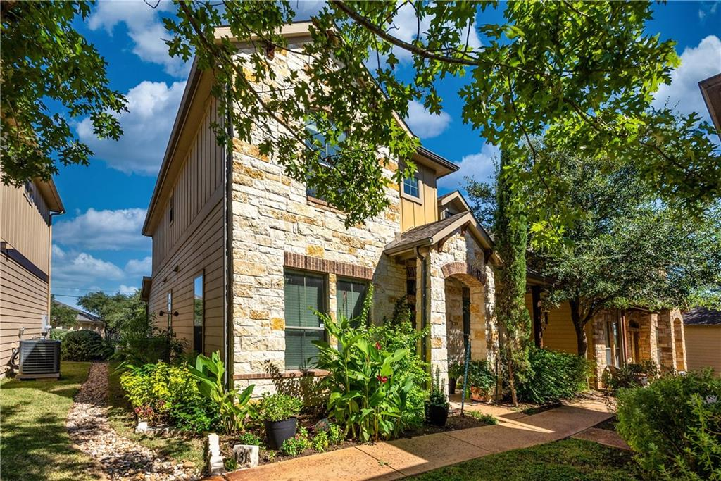 Prepare to be impressed by this tastefully remodeled stand-alone condo in the highly desirable Paradiso Villas. This generous floor plan features 3 bedrooms, 2.5 bathrooms and an open flex space. Pride of ownership shines through out the entire home, from the warm wood flooring to the high-end lighting fixtures. The gorgeous inviting living room opens to the dining/kitchen spaces making it the perfect gathering place. The stunning kitchen is absolutely flawless; featuring a custom glass pantry door, beautiful cabinetry with upgraded hardware, quartz countertops, designer backsplash and stainless-steel appliances. The downstairs primary bedroom is spacious and offers a full bathroom with an oversized walk-in shower. The options are endless for the upstairs flex space; office, gym, second living, kids area, etc. Parking is never a problem with the attached double car garage. This move-in ready home is full of upgrades and has everything you could ever want and need. Energy efficient, low maintenance and a lock and leave community with a pool are just extra bonuses. Conveniently located in town close to highways, Brushy Creek Lake Park, shopping/dinning and the new Apple campus. This prime location is surrounded by plenty of green space with trails, hiking, fishing, biking, kayaking & a golf course close by. This amazing home is the complete package and will sell quickly. Hurry and book your showing appointment today!