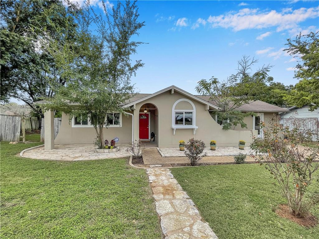 Take 620 near Lakeline Mall to Blue Ridge Dr. House is 2 blocks down the road. Corner lot on the left. 3000 Blue Ridge. Adorable stucco with white trim