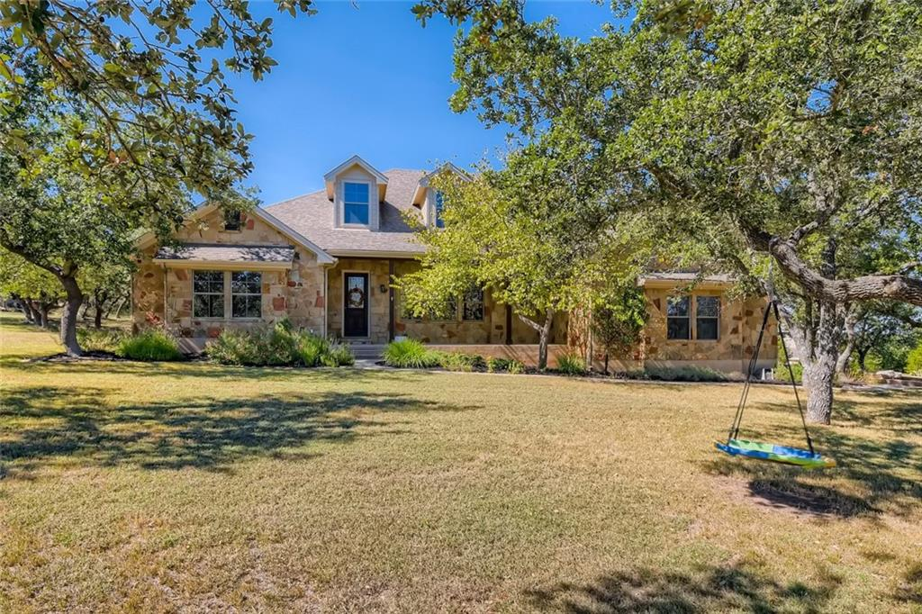 This is a fantastic opportunity in DSISD and just a short drive from Austin.  This large corner lot features incredible manicured oak trees from end to end.  The meticulously landscaped front yard provides privacy and gorgeous scenery.  The home has been incredibly well maintained with attention to detail and the full interior has been recently painted.  This floor plan is incredible with a dedicated dining space as well as a breakfast area, a large kitchen opens to the spacious family room, 3 bedrooms on one side of the home and a large primary bedroom on the other.  Lots of windows bring incredible natural light throughout the home.  The home features a large front porch perfect for your morning coffee and a large covered back patio as well.  This one is certain not to last long, make it yours today!