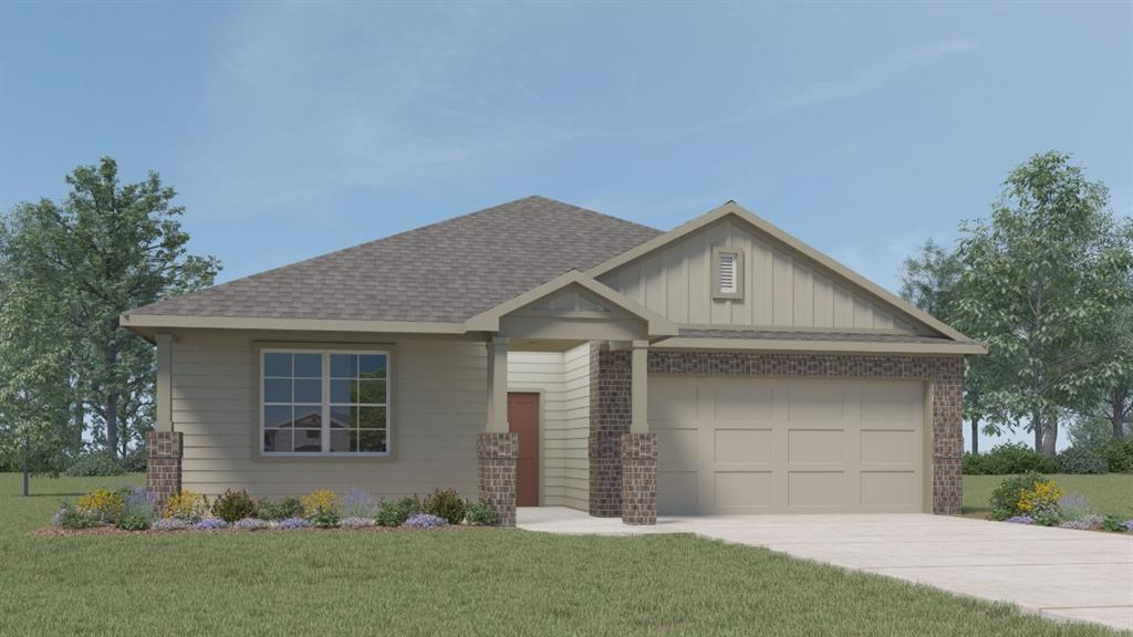 NEW CONSTRUCTION. ESTIMATED COMPLETION DATE IS FEB 2022. The Kingston II floorplan offers 2,025 sq. ft. with 4 bedrooms, and 2 baths.   The long foyer leads into the impressive kitchen open to the dining area and family room, perfect for entertaining.  The kitchen features granite countertops, huge kitchen island, and stainless steel appliances. The large main bedroom, bedroom 1, is off the family room and offers a large walk in shower and huge walk in closet.  This home also includes a professionally landscaped and irrigated yard complete with Bermuda sod. This home includes our HOME IS CONNECTED base package which includes the Alexa Voice control, Front Door Bell, Front Door Deadbolt Lock, Home Hub, Light Switch, and Thermostat