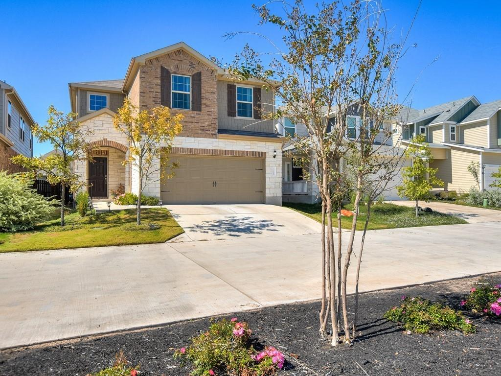 Immaculate 3 bed/2.5 bath, two-story home in Pflugerville's desirable master-planned community of Carmel West, Recent 2019 construction boasts a bright open floor plan downstairs with wood-style tile flooring and an open kitchen with a center island bar. 2,195 SF with a sizable second-story loft. Enjoy cooler fall evenings outside under the spacious covered patio. Incredible spa-like walk-in shower in the primary bath features double shower heads and bench seating. Fantastic custom organizational unit in the primary suite closet. Two-car garage. Low quarterly HOA fee. Zoned to Weiss High School. Close proximity to Lake Pflugerville, Costco, Baylor Scott & White Medical Center, and Stone Hill Town Center. Easy access to 130 & 45 toll roads - 20 min to downtown Austin. Pre-inspected and ready for a smooth close!