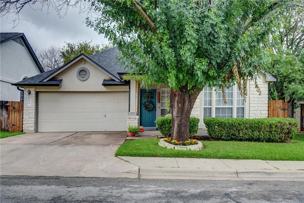 Rare gem tucked away in highly sought-after gated community of Round Rock Ranch! Located on a low traffic & no through street, this home is within walking distance to the private greenbelt, parks, pools & exceptionally rated RRISD schools! Fabulous open floor plan includes gorgeous kitchen with granite countertops that opens to the spacious family room with stunning shiplap fireplace, custom mantle and a wall of windows that looks outside to your private backyard and expansive deck; all perfect for entertaining! Work from home a little easier with a separate study, complete with built-in bookcases and outlined by beautiful French doors.  Every room in this home has been modernized with new light fixtures, tile and fresh paint throughout.  Roof and gutters recently replaced, giving you an extra boost of curb appeal.  Don't miss the opportunity to live in this one a kind home in a convenient location that's only minutes from major roads, shopping and entertainment!