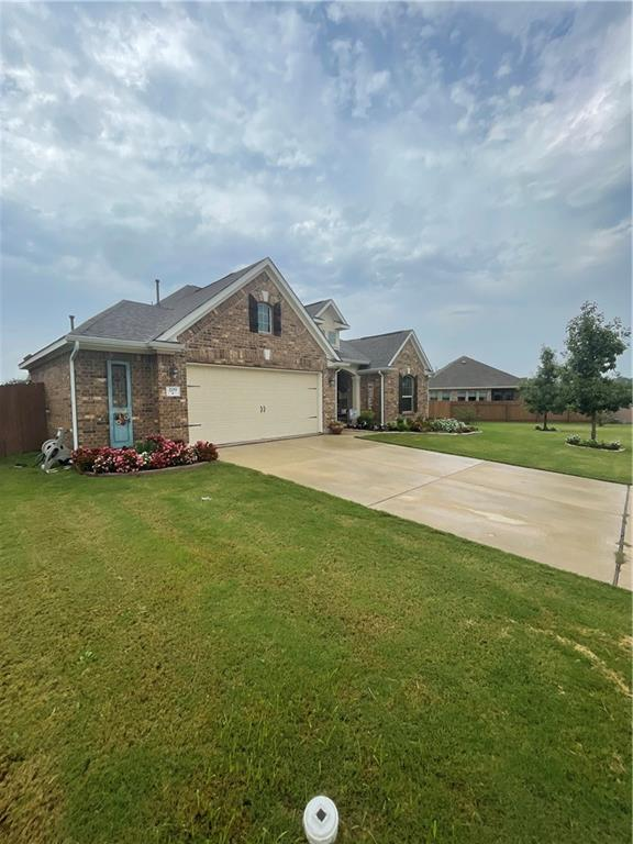 Welcome home to this 3 Bedroom + Office  One Story --high ceilings, bright and open floor plan.  Entertain on the large covered porch.   Quality all sides brick exterior.  LISD! 2 Pools, Playground, and  Community Club House.  This larger than an average lot, with 2 side yards,  has mature landscaping that can accommodate a future pool.  2 Split secondary bedrooms and a designated Office, are a great flexible design plan. Great storage includes a 2.5 Car Garage. A Lender incentive is available towards Buyers Closing Cost with MidAmerica Mortgage- text listing agent for details.   **Pet Duck @ backyard enclosure **