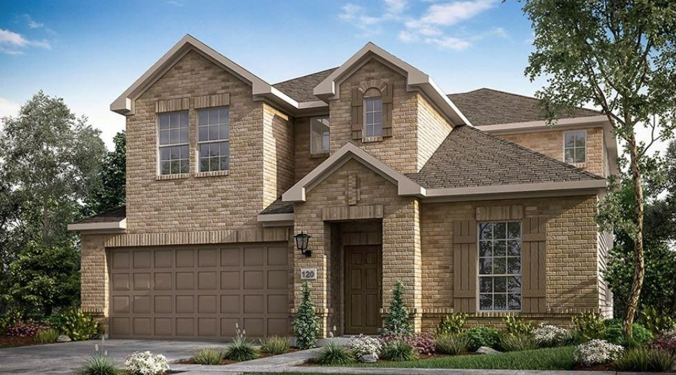 Ready July 2022! The Bordeaux is an excellent choice for larger households needing additional living space! Boasting an impressive two-story family room, well-appointed gourmet kitchen and deluxe first-floor owner's retreat. The family room is designed to be the hub all activity revolves around. Great place to cozy up for a TV binge-watch weekend. The large island has a double sink so the designated cook can make a meal and stay connected. The island includes ample space for sitting, chatting and quick meals. There is also a roomy area for casual dining. Enjoy room to breathe and a clutter-free lifestyle with plenty of square footage. Additional features include a game room, a media room, and a large covered outdoor living. Structural options added to 4600 Modena Bay Bend include: media room, study in lieu of flex, slide in tub at owner's bath, gourmet kitchen.