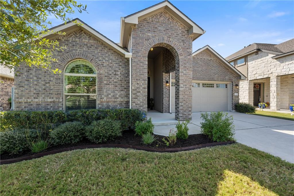 An immaculate 3 bedroom, 2 bath home in one of Austin's most desirable suburbs! This home boasts award winning schools and is within walking distance to brand new Lakewood Park with fishing, kayaking, paddle boarding, kids splash pad, dog parks, and plenty of outdoor activities. The original owners have taken exceptional care of this single-story home with a little over 2,000 square feet of living space that has remained entirely pet free. The kitchen and dining area flow seamlessly from the living room creating that open concept feel great for entertaining. Guests can overflow to the covered back patio, equipped with a gas hookup for your grill. Beautiful tile floors throughout, upgraded carpeting in the bedrooms, vaulted ceilings, polished copper wall sconces in the living area, recessed lighting and under cabinet lighting in the kitchen, stainless steel appliances, and granite counter tops are just a few of the many upgrades featured in this home. The gorgeous plantation shutters are warranted by Austin Window Fashions. The custom closet in the master and built-in storage in the separate office area are warranted by California Closets. The two spacious secondary bedrooms up front share a bathroom with tub/shower combo, while the master suite is privately nestled in the back of the home. The roof and gutters were replaced Sept 2021 with transferrable warranty. Conveniently located near major employers (like Apple) and shopping (The Domain)!