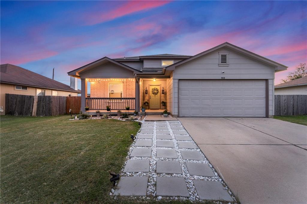 Still the cutest house on the block! New windows, flooring, interior paint, outside landscaping, roof replaced in 2018 and many more upgrades! Clean, well kept & ready for move in! Granite countertops in kitchen w/ tiled back splash and an open layout make this a great space for entertaining. First level owner's suite, and a nice 1st level office space. No backyard neighbors and an amazing backyard! Great modern country farmhouse feel. Additional living space upstairs with 3 additional bedrooms and currently used as a movie space with projector perfect for family nights in. You won't want to miss this!
