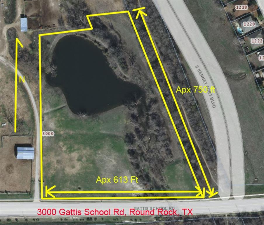 Approximately 7.52 Acres Currently Zoned SF-1/SF-R. About 1/2 of property is in flood plain. Southeast corner borders future Round Rock Arterial Approximately 470 ft of frontage on Gattis School RdRestrictions: Yes