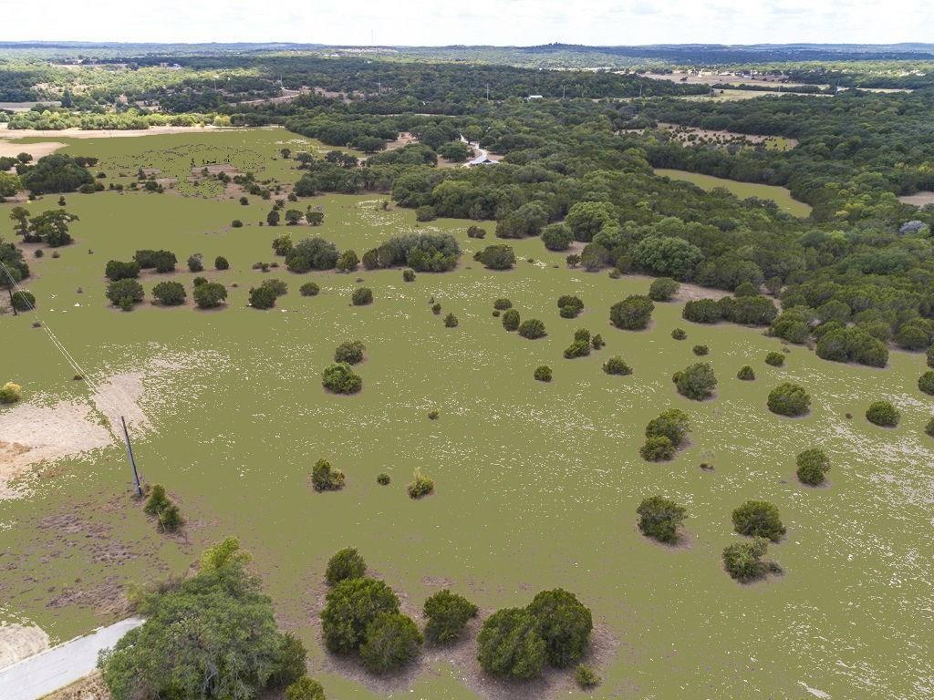 23.5 ac to be subdivided out of larger tract. Property currently under ag exemption. Possible limited size residential development or business complex. Beautiful flat land. Nice oaks in some areas. Creek with spring fed swimming hole at back. Close to Dripping Spring & 290. Water line & internet available. Will need septic or get in on lower prices now before City sewer comes in & hold as an investment or develop then. Lots of options. Road frontage on Roger Hanks or Hamilton's Crossing. See Plat.Restrictions: Yes