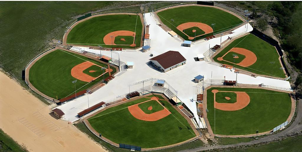 Baseball Training Academy is 6,000 sq ft  with a 16' clear ceiling, Barn is 4,800 sq ft,  16' clear ceiling