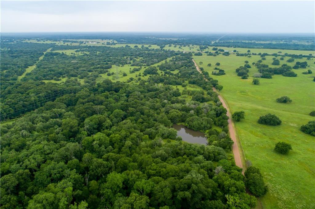 LOTS OF ROAD FRONTAGE!!  88 plus acres nicely located, would be great for building a home in the country, hunting, grazing cattle or weekend recreation.  The property is mostly wooded with a variety of trees, including live oak, post oak, cedar, yaupon, mesquite along with many other types of vegetation. Blackjack Creek runs along the east side of the property, this seasonal creek is a draw for wildlife in the area.