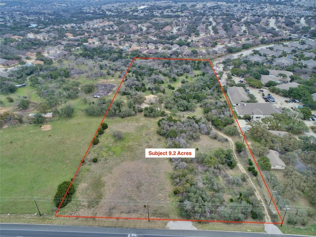 Excellent opportunities with this 9.29 acres with water meter and sewer on site in busy and thriving Georgetown.  Notice the 5 story apartment complex directly in front of the property.  With Sun City just down the road this piece of land could have endless potential for possible business complex.FEMA - Unknown Restrictions: Unknown