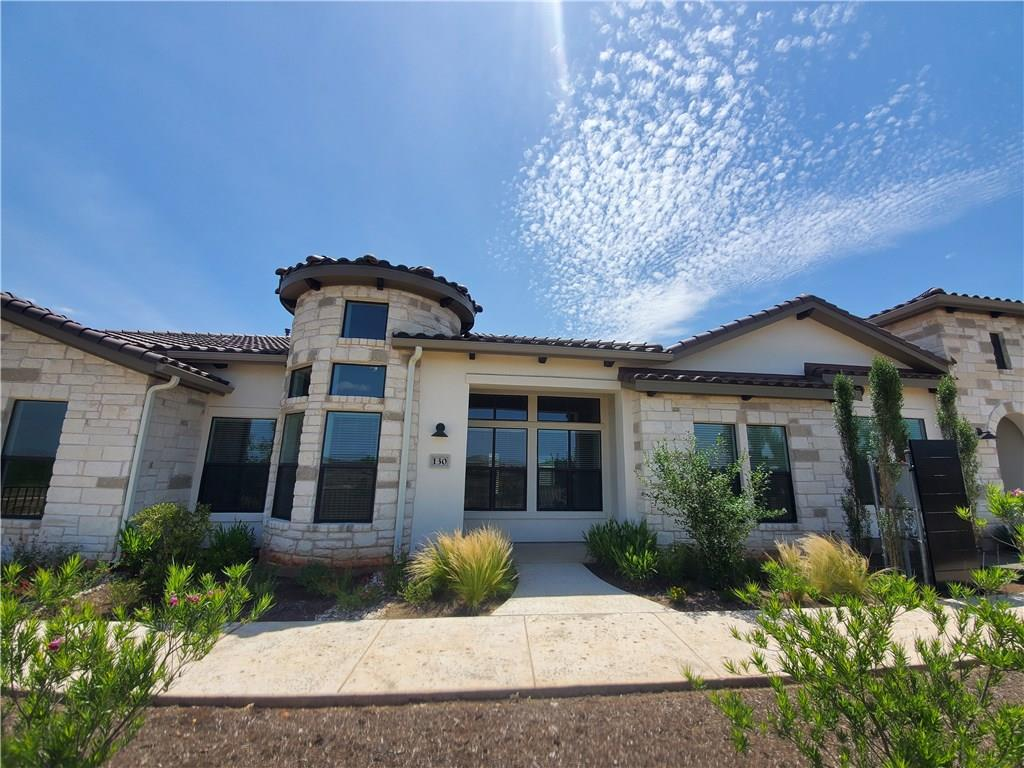 One of the most popular town homes, the LaScala, in Lakeway makes it's debut in Horseshoe Bay's first active adult community, Tuscan Village. Features include an open concept floor plan, large private back patio, light cream cabinets, wood flooring in main living areas, Bosch appliances w/gas cook top, granite counters in kitchen & baths & large master closet. Clubhouse and pool are underway and the dog park, community garden & trails are coming soon. Move-in ready. 1 year prepaid Tuscan Village HOA dues.Restrictions: Yes  Sprinkler Sys:Yes
