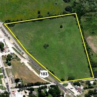 Approximately 14.65 acres along east frontage of US Highway 183 in North Central Lockhart. Zoned Commercial Heavy Business priced at $3 per square foot. This Property is located in an Opportunity Zone.