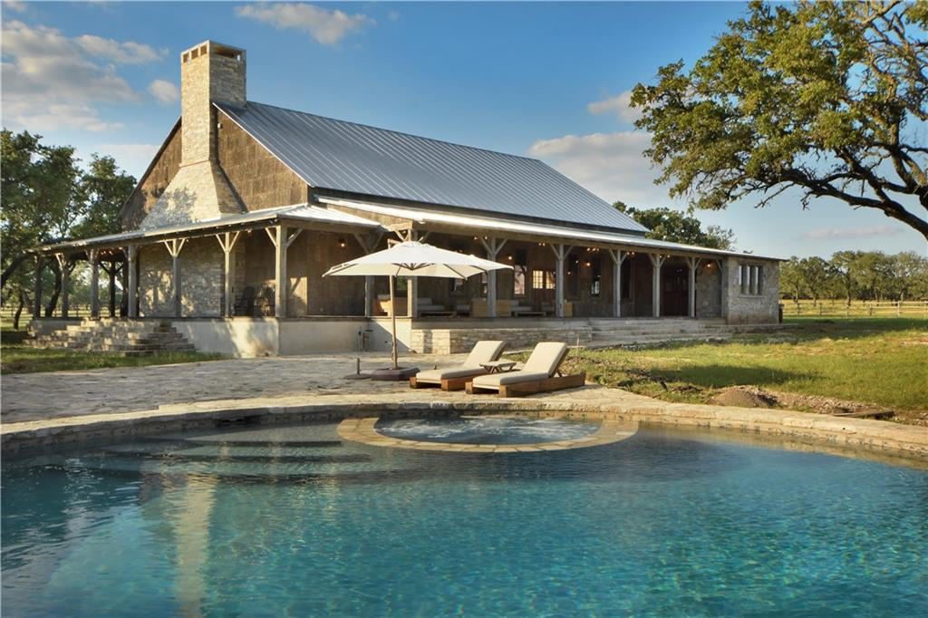 """Arch Stanton Ranch is 345+/- acres, West of Austin & 10 mins W of Main Street. Prime live water ranch with 3 unique structures (restored 1900's home, historical """"lodge"""", and cabin each with accommodations, character, amenities & features coupled with 21st century materials & technology. Incredible finishes & accommodating of today's luxuries. Wells & paved roads. All cedar & cacti have been removed. A truly incredible incredible opportunity to purchase a true ranch of this size with so many features.Guest Accommodations: Yes Restrictions: Yes"""