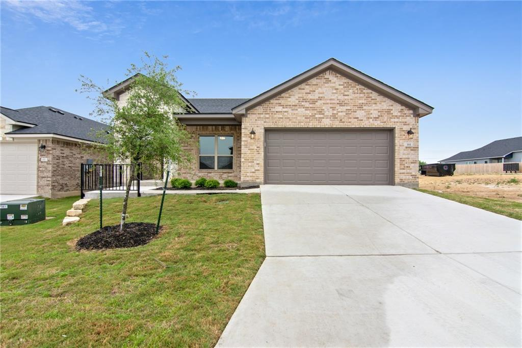 Check out this beautiful single story Carothers Executive Home with a 2 car garage located in Calumet subdivision, located across from Jarrell High School, minutes from downtown shops, and convenient to 35. This Wimberly floorplan is a 4 bed, 2 bath located on a 50 x 120 lot homesite, loaded with custom finishes. INTERIOR features include spacious Master walk-in shower, stainless appliances, granite kitchen countertops, 10-foot ceilings, foam insulation, and extensive wood-look tile flooring.Restrictions: Yes