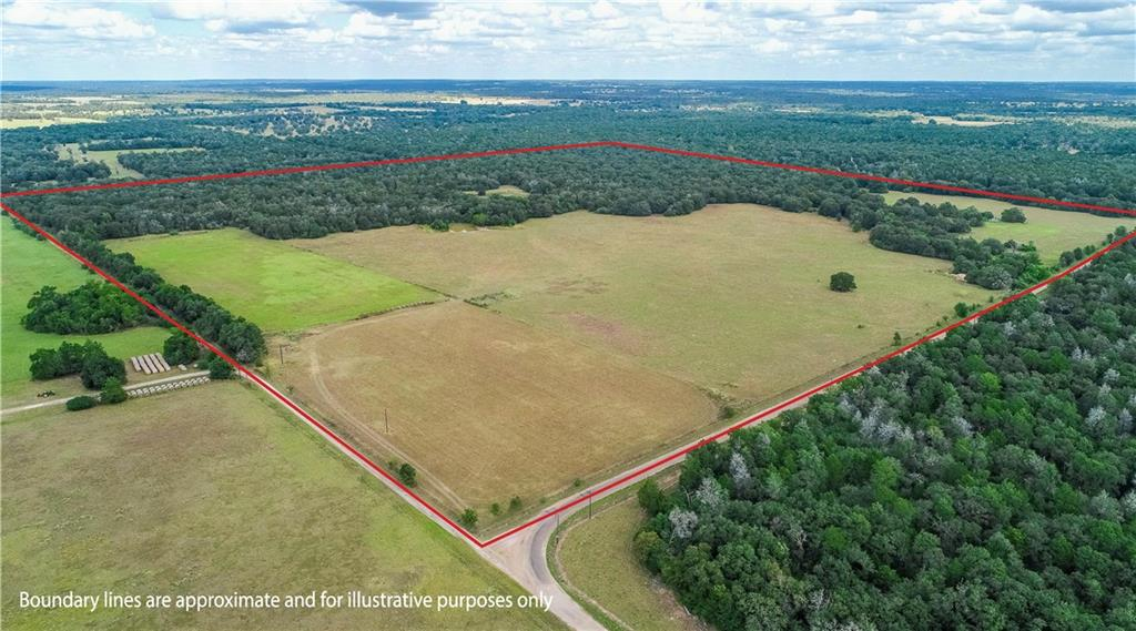 +/- 163.6 Acres of beautiful, secluded country property located in Old Dime Box, Lee county. Approx. 50% open, improved pasture & 50% wooded. 7-acre hay pasture fenced out. Some cross-fencing, and mostly all perimeter fenced. Roughly 2,500-ft of paved Road Frontage.Two intermittent creeks/ravines run through the property w/ various elevation changes & 2 ponds. Sandy soil.  There is overhead electric poles on-site, and potential to get Lee County Water supply at the property.