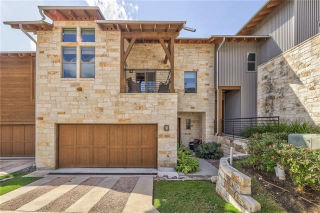 Two-Story Beauty in the Award Winning Hillside Community! This one-owner home is conveniently near all the Austin action & offers greenbelt views. Seamless floor plan w/wood floors, floor to ceiling fireplace & custom Hunter Douglas window coverings. The gourmet kitchen boasts a HUGE island, updated quartz counters, a fun tiled backsplash & SS. Loft & private office up. Luxurious master suite w/lavish ensuite bath & walk-in closet. Enjoy the outdoors on the balcony w/views or on the patio under the trees.  FEMA: Unknown, Restrictions: Yes,  Sprinkler Sys: Yes