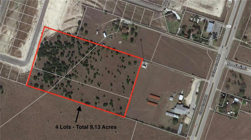 4 lots totalling __9.13__ unimproved acres A0161BC J COOK, (PT 2.892AC TRACT), ACRES 2.077 A0161BC J COOK, (PT 2.892AC TRACT), ACRES 0.815  0161BC J COOK, 1-2, (PT 6.246AC TRACT), ACRES 2.683  A0161BC J COOK, 1-2, ACRES 3.563 Located behind Texas Humane Heroes