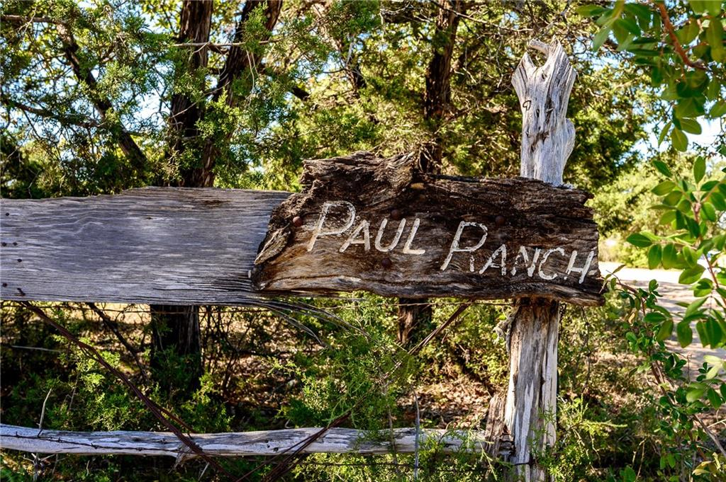 "Stewarded by the Paul family since the 1950's and exchanging hands only 3 times since the Texas land grant of 1836, this approximate 42 acre ranch is ripe for your vision. Currently ""Ag"" exempt , with multiple grazing pasture sites, multiple level building sites, Pedernales River slew frontage/ access and all of the Texas sunsets you can handle. Oaks and Cedar trees are plentiful as well as the occasional native cactus on the property.Restrictions: Yes"