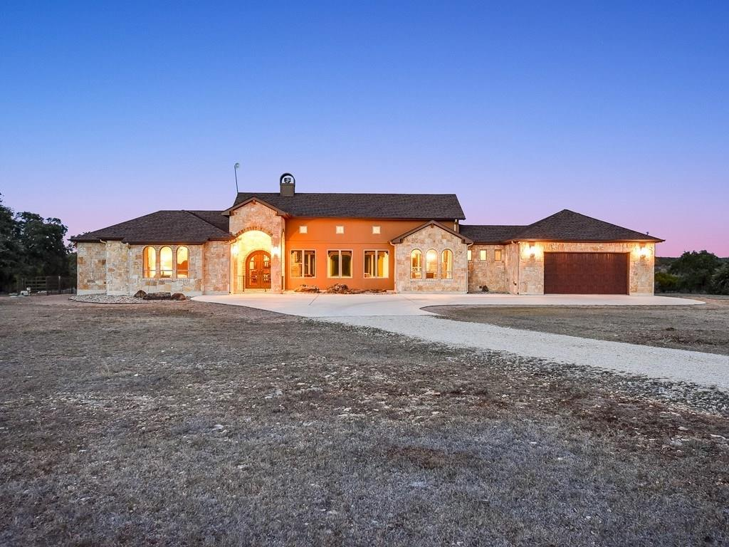 Two beautiful hill country homes on 26 acres. Potential use as a wedding venue, winery, brewery or vacation rentals. Unrestricted use. Panoramic views. Livestock fence, cross fenced, horse stalls and large workshop. Ag exempt status. 2017 Home has soaring vaulted ceilings, beautiful cabinets and woodwork. Two complete master suites with large master baths and large master closets. Inviting covered patio. Original ranch house has 4 bedroom / 3 bath / 2 living areas.Guest Accommodations: Yes Restrictions: Yes