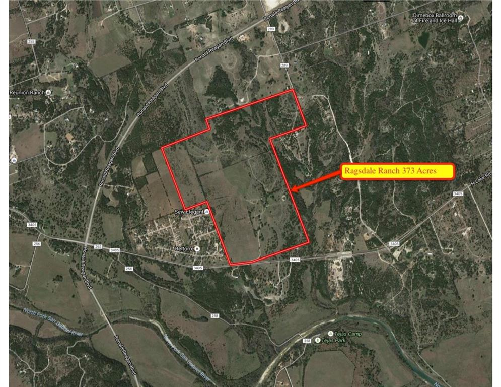 373 Acres of ranch property, ideal for Residential home development.  Property has 2,280/sf two bedroom ranch house, 819/sf 2 bedroom cabin, and 2,500/sf barn with additional pens and loading chute.  Property has 2 wells, one is functioning very good.  20 Inch City of Georgetown water line is on front of property.  Contact Agent for further details and private tour of the propertyGuest Accommodations: Yes