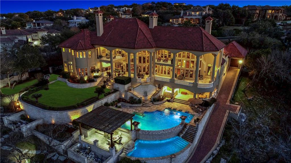 Welcome to 211 Costa Bella Dr-an entertainers dream come true.Experience an exclusive waterfront lifestyle in the gated community of Costa Bella on the S shore of Lake Travis.This is luxury living on a grand scale that is unmatched w/$600K+ in home automation tech.Exquisite architectural features, hand crafted finishes & resort style spaces for your every whim.Lounge on the terraces or relax by the pools.Ride your golf cart to the boat dock to enjoy water sports on the lake.See attached for more info.Restrictions: Yes  Sprinkler Sys:Yes