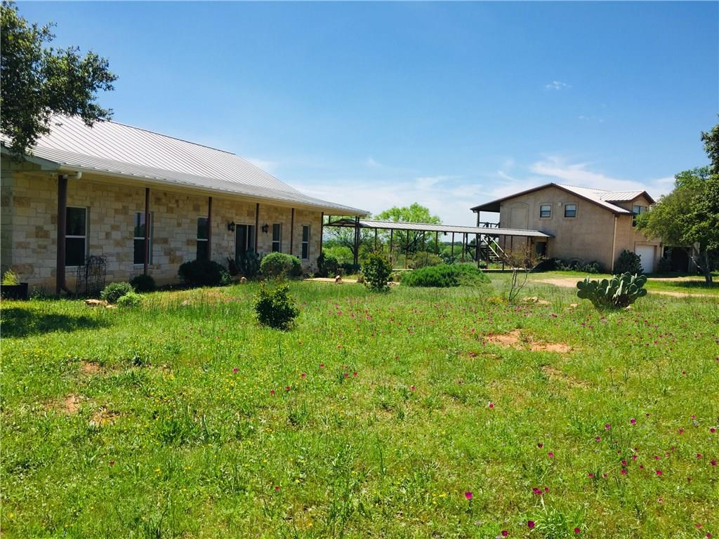Stunning Hill Country Estate with Main Home & Separate Guest House both with incredible views of 60 acres of prime hill country land. 5 min to Llano River. Super ENERGY efficient home built w/Insulated Concrete Forms & Steel studs & ceiling joists. Incredible upgrades. 20K gallon rainwater collection/UV filtration system plus a well. Attic of main house is ready for finish out. Huge workshop, barn & equip shed. Views to Enchanted Rock. Contact Broker for Videos, Floorplans & Feature Info.Guest Accommodations: Yes Restrictions: Unknown