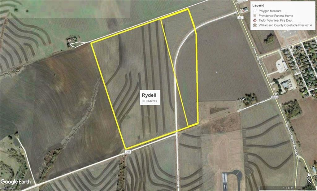 Restrictions: Yes Developer's Dream 80+ acres with Justin Lane Frontage in rapidly growing Taylor area. Property is partially in the city limits of Taylor with the back half in the ETJ of Taylor. Available for development with Commercial Big Box operation, Multi-Family or Residential. Outstanding value with level building sites and convenient access to Hwy 79, Hwy  95, Chandler Road and TX 130 Tollway.  Property ID No's. R.019617(59.3547 Acres), R374022 (9.1581 Acres), R406295 ( 10.255 Acres)and R406296 (2.19 Acres).