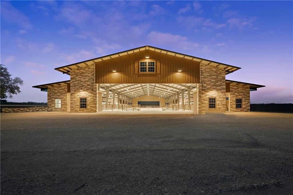 Elegantly designed 30+/- acre equestrian property minutes from downtown Johnson City, TX. The covered arena including stalls is 130 x 260 under roof. The riding arena inside is 80 x 240. This facility was built to perfection and includes (24) 12 x 12 stalls that are all equipped with hay and grain feeders. There are 4 wash racks with hot & cold water, 2 on each side of the arena. There are several tack rooms, feed rooms, an office, bathroom, and lounge. The arena is lighted with LED lighting. A must see!!FEMA - Unknown